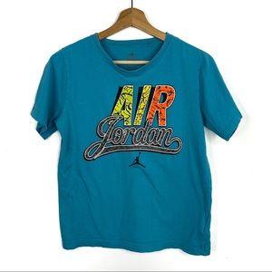 Air Jordan Turquoise Boy's Graphic Letters T-Shirt